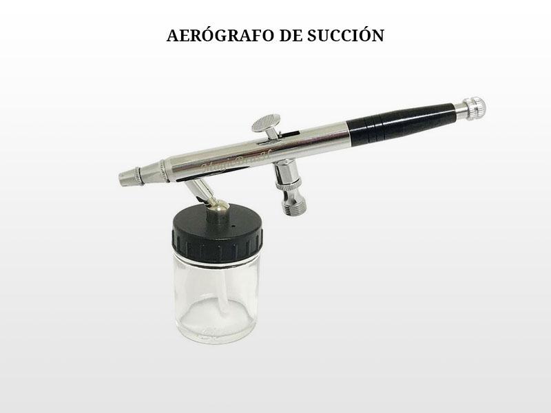 Funcionamiento del aerógrafo de succión
